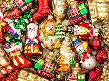 L'albero di Natale orna i giocattoli delle bagattelle delle decorazioni Fotografia Stock Libera da Diritti