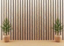 l'albero interno nella stanza in 3D rende l'immagine Fotografia Stock Libera da Diritti