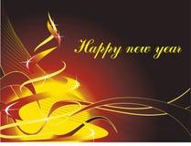 L'albero stilizzato del nuovo anno illustrazione vettoriale