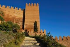 l'Alcazaba Photo libre de droits