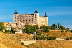 L'alcazar di Toledo, sito di eredità dell'Unesco in Spagna Fotografia Stock