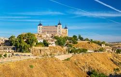 L'alcazar di Toledo, sito di eredità dell'Unesco in Spagna Immagine Stock Libera da Diritti