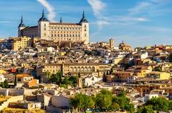 L'alcazar di Toledo, sito di eredità dell'Unesco in Spagna Fotografie Stock Libere da Diritti