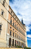 L'alcazar di Toledo, sito di eredità dell'Unesco in Spagna Fotografia Stock Libera da Diritti