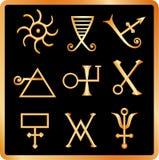 L'alchemia firma no.1. Fotografia Stock Libera da Diritti