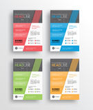 l'aletta di filatoio /brochure/poster/ di vendita di affari ed il rapporto progettano il modello illustrazione di stock