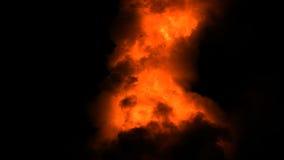 L'alfa canale fiammeggia la combustione video d archivio