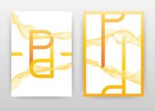 L'alfabeto arancio della lettera di P con le linee ondeggiate gialle progetta per il rapporto annuale, l'opuscolo, l'aletta di fi royalty illustrazione gratis