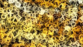 L'alfabeto arancione scuro segna la struttura con lettere di caos royalty illustrazione gratis