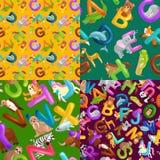 L'alfabeto degli animali ha messo per istruzione di ABC dei bambini in scuola materna Fotografie Stock