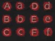 L'alfabeto del testo ha messo 1 Immagine Stock