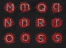 L'alfabeto del testo ha messo 3 Fotografie Stock