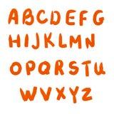 L'alfabeto disegnato da una pittura ad olio Immagini Stock Libere da Diritti
