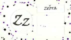 L'alfabeto inglese illustrazione di stock