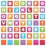 Segni di alfabeto Fotografia Stock