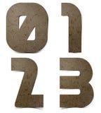 L'alfabeto numera il documento del gelso Fotografia Stock Libera da Diritti