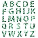 L'alfabeto punteggiato verde segna eps10 con lettere Illustrazione di Stock