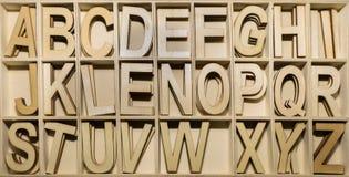 L'alfabeto segna i segni con lettere inglesi di ABC Fotografia Stock Libera da Diritti