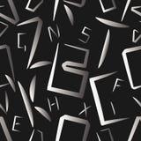 L'alfabeto segna il modello con lettere seemless Fotografie Stock Libere da Diritti