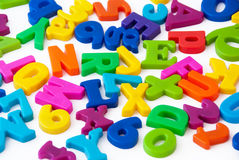 L'alfabeto segna la priorità bassa con lettere immagini stock libere da diritti
