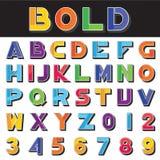 L'alfabeto segna la scheda con lettere di gesso Immagini Stock