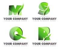 L'alfabeto segna le icone con lettere di logo Immagini Stock