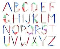 L'alfabeto si è formato dagli articoli per ufficio royalty illustrazione gratis