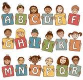 L'alfabeto variopinto segna A con lettere - R Fotografia Stock Libera da Diritti