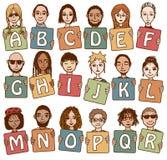 L'alfabeto variopinto segna A con lettere - R Immagine Stock