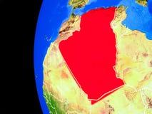 L'Algérie de l'espace illustration stock