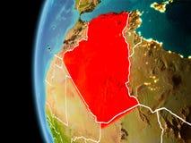 L'Algérie de l'espace dans la soirée illustration libre de droits