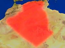 L'Algérie de l'espace en rouge Photo stock
