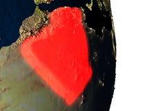 L'Algérie de l'espace pendant le crépuscule Photo stock