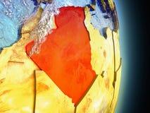 L'Algérie en rouge de l'espace Photos libres de droits
