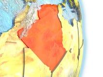 L'Algérie en rouge sur terre Photo stock