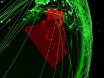 L'Algérie sur la terre verte illustration stock