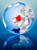 L'Algérie sur le globe illustration libre de droits