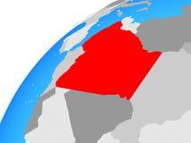 L'Algérie sur le globe illustration de vecteur