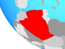 L'Algérie sur le globe illustration stock