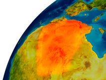 L'Algérie sur le globe Photos stock