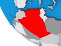 L'Algérie sur le globe 3D illustration stock