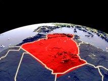 L'Algérie sur terre de l'espace illustration de vecteur