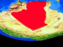 L'Algeria da spazio su terra illustrazione vettoriale