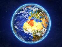 L'Algeria su terra da spazio illustrazione di stock