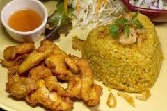 L'alimento del pollo fritto di Kgawhmk decora Immagine Stock Libera da Diritti