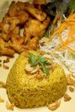 L'alimento del pollo fritto di Kgawhmk decora Fotografie Stock