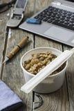 L'alimento di Chineese per porta via Immagini Stock