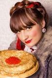 L'alimento di Traditioal dentro Shrove martedì immagini stock