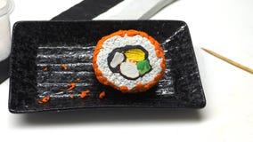 L'alimento giapponese dell'argilla del modanatura della scultura è shi di Shu di attività di arte immagine stock