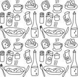 L'alimento obietta il modello senza cuciture illustrazione di stock